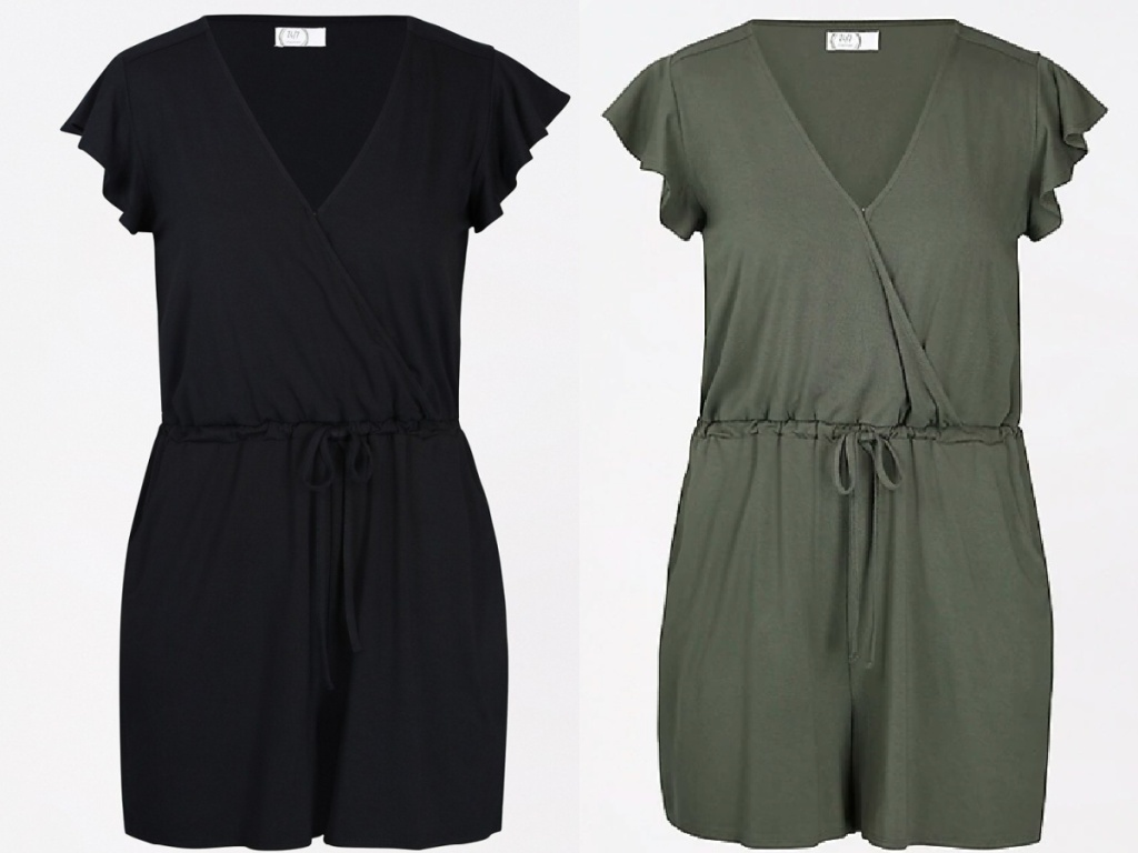 black and green womens rompers
