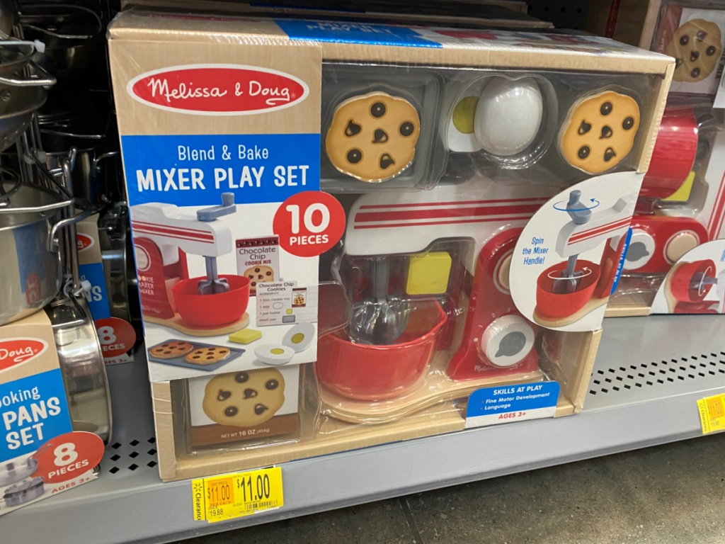 toy play set for baking on store shelf