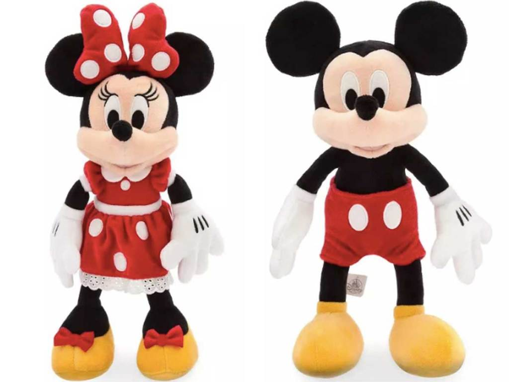 disney mickey mouse and minnie mouse plush