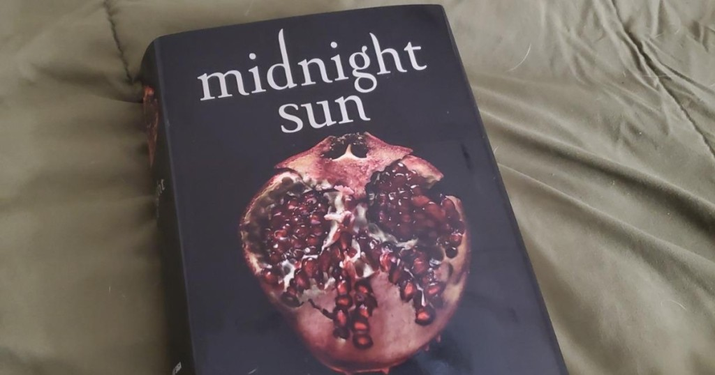 Midnight Sun book on bed