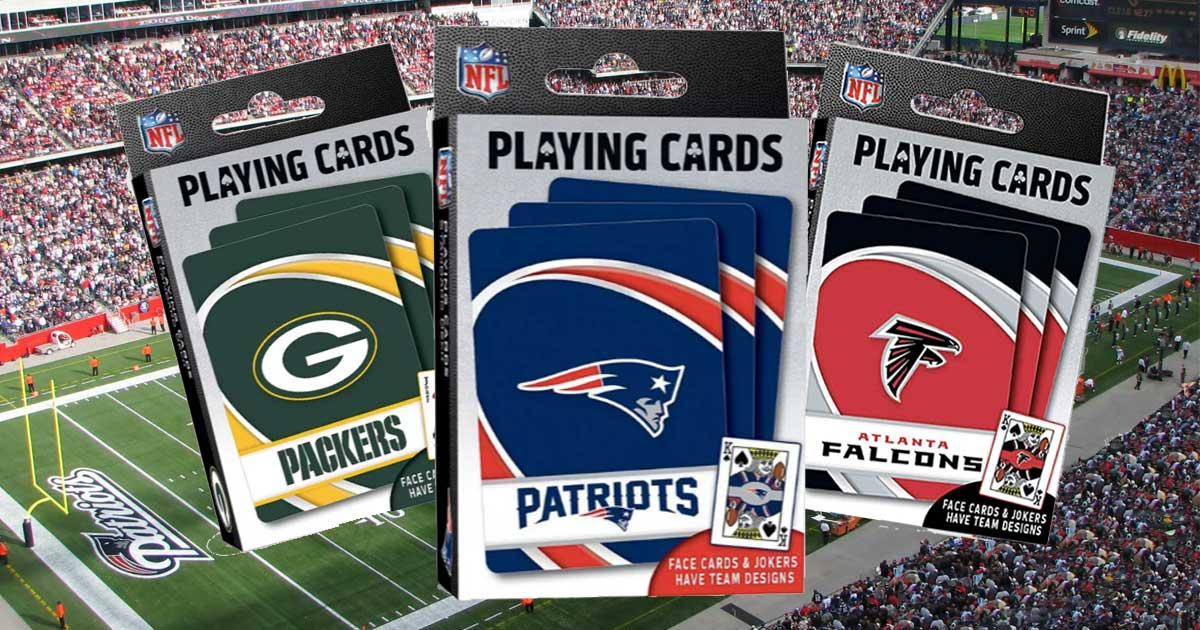 nfl playing cards teams