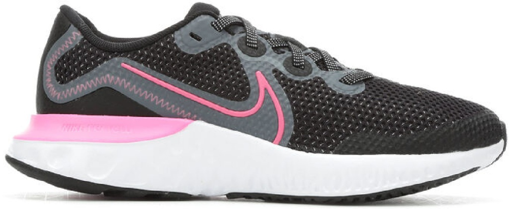 pink and black nike shoes with white sole