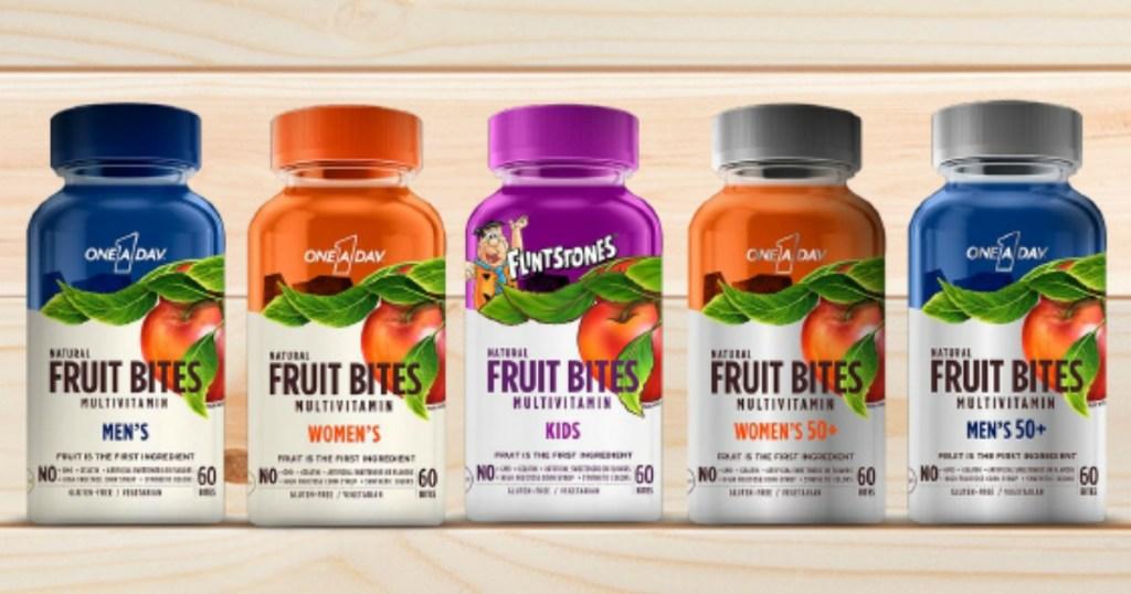 stock image of bottles of vitamins