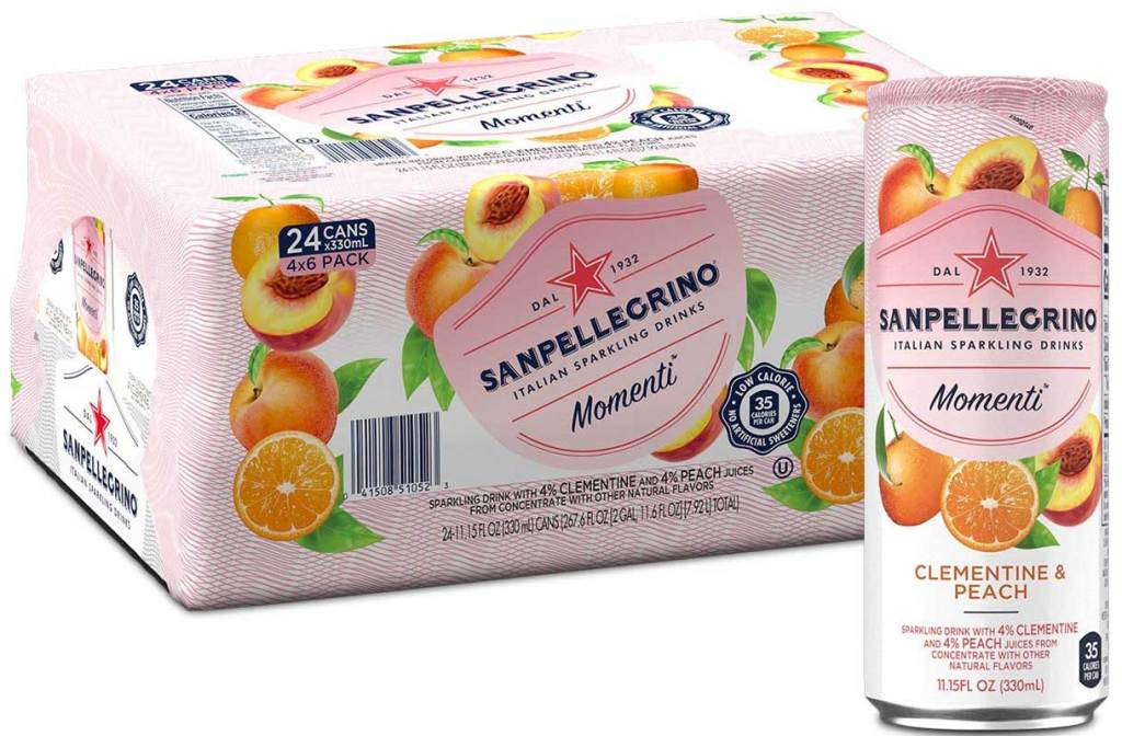 case of sparkling water
