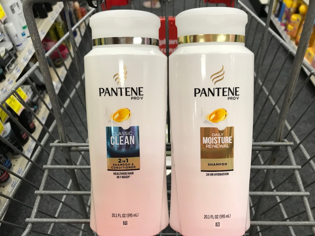 pantene shampoo and conditioner in cvs cart