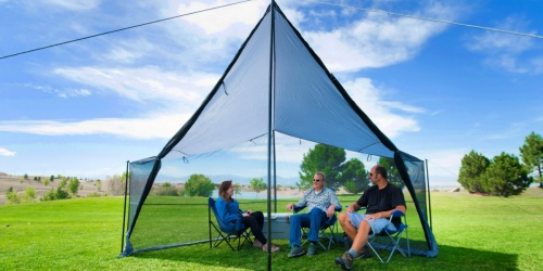 Ozark Trail Tarp Shelter w/ Roll-up Screen Walls Only $34 on Walmart (Regularly $85)