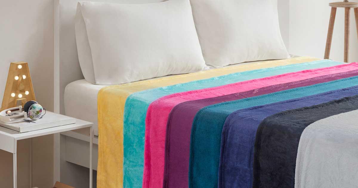 Oversized Plush Microlight Blankets from $9 on Walmart.com (Regularly $28+)