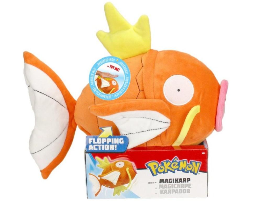 colorful Pokemon MagiKarp toy in box