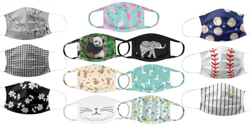 Reusable Non-Medical Face Masks from $2.43 Each on Zulily | Huge Selection of Prints & Sizes