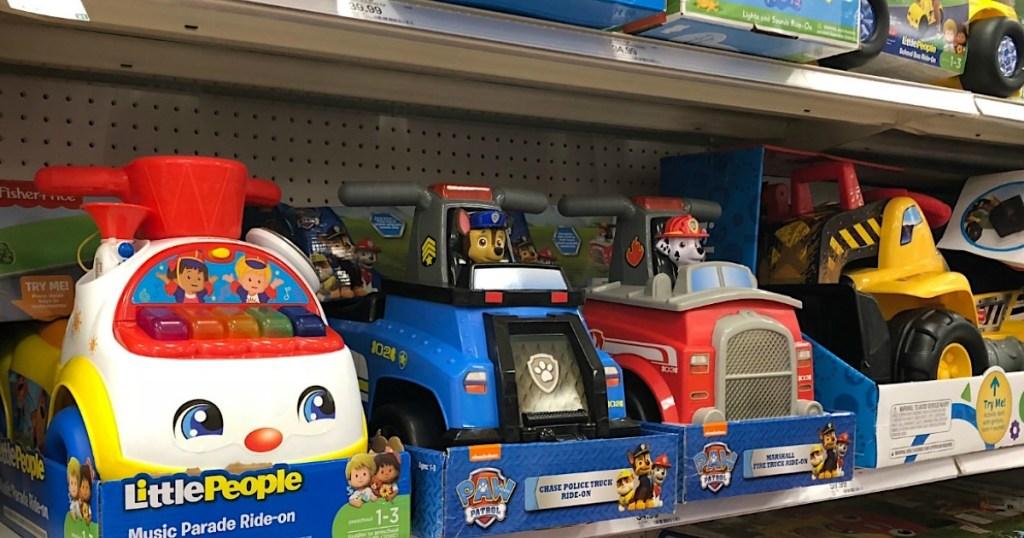 ride-on toys at Walmart