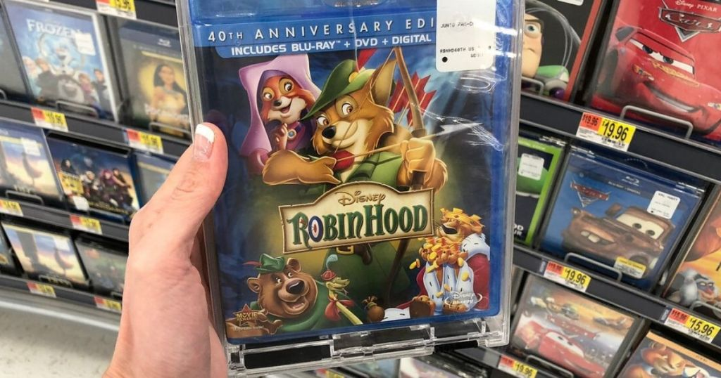 Robin Hood movie in woman's hand
