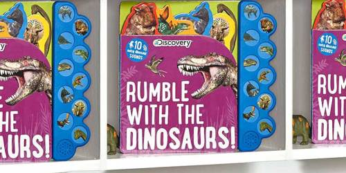 Discovery Rumble w/ the Dinosaurs! Book Just $5.85 on Amazon (Regularly $13) | Features 10 Different Sounds