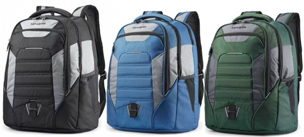 commuter backpacks in three colors