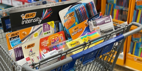 Sharpie & BIC Multipacks from $6.98 at Sam's Club + More School Supply Deals