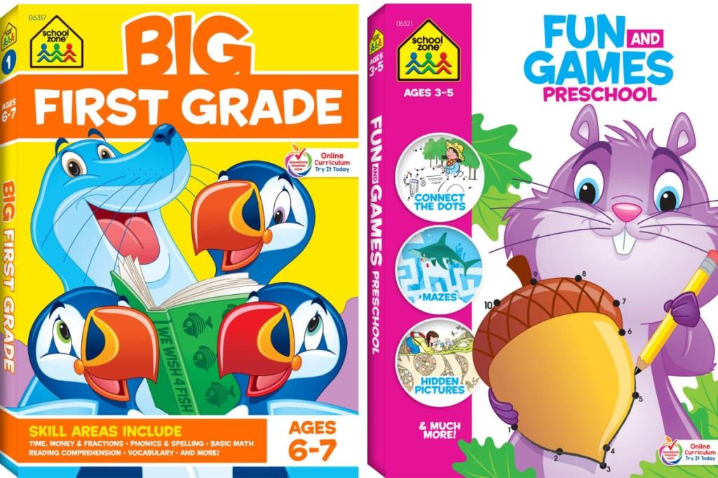 School Zone Big First Grade Book and Fun & Games Book