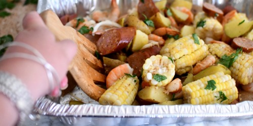 No-Mess Sheet Pan Shrimp Boil on the Grill or in the Oven!