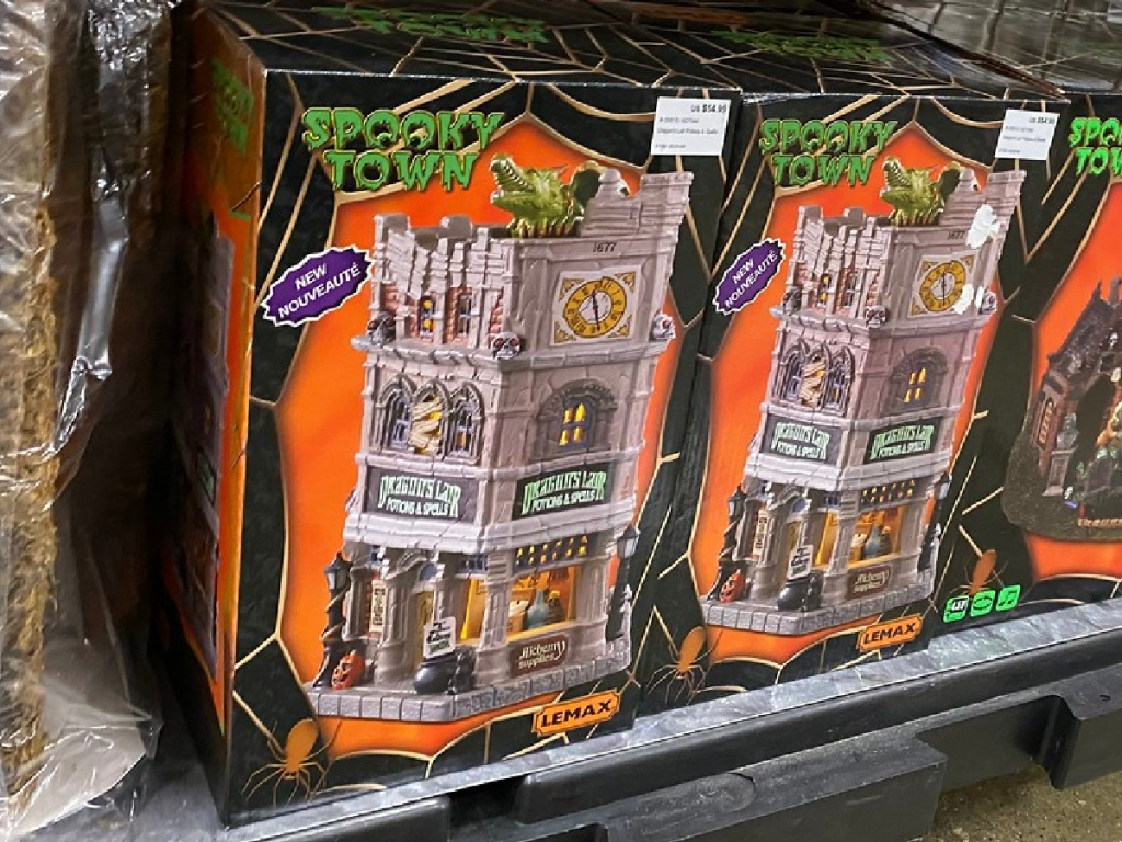 halloween package house on store shelf