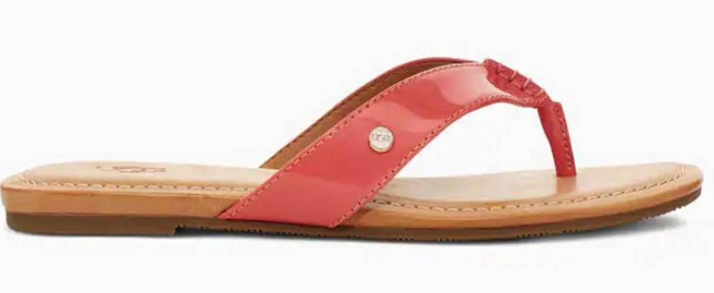 ugg orange patent sandal