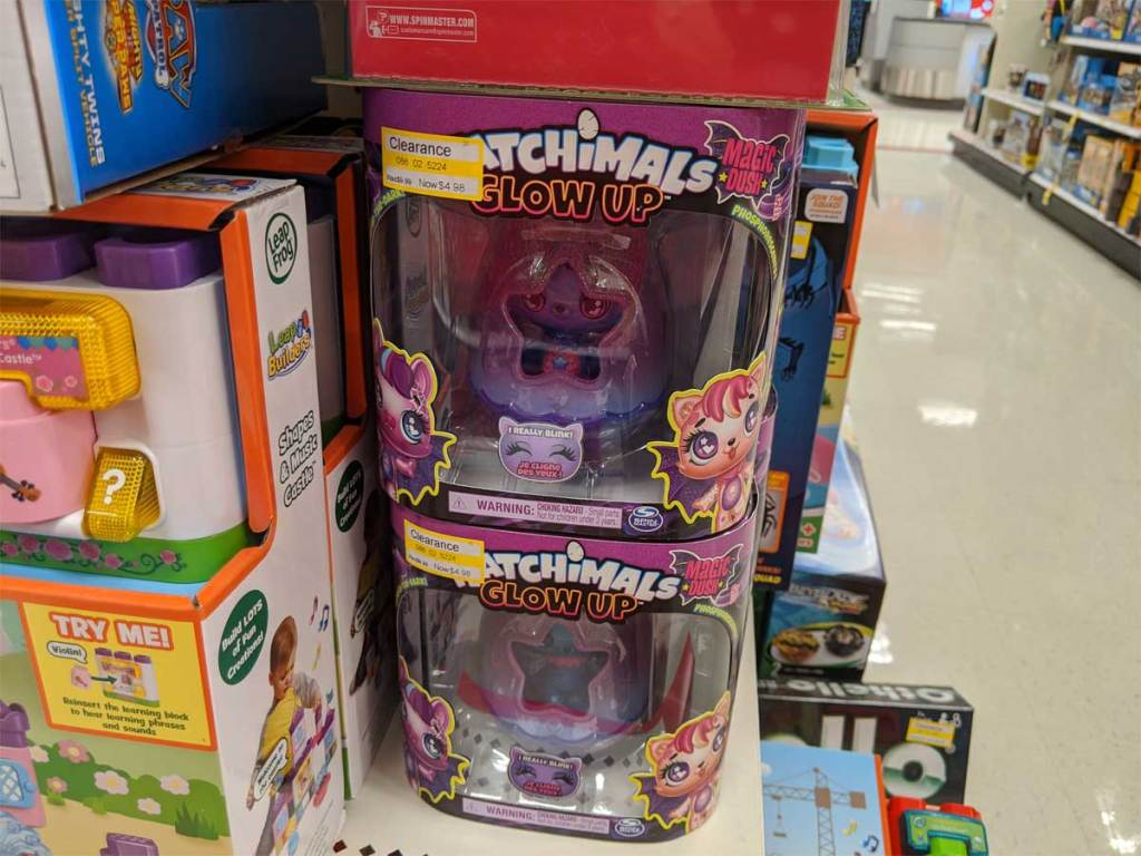 hatchimals glow up toy in the store