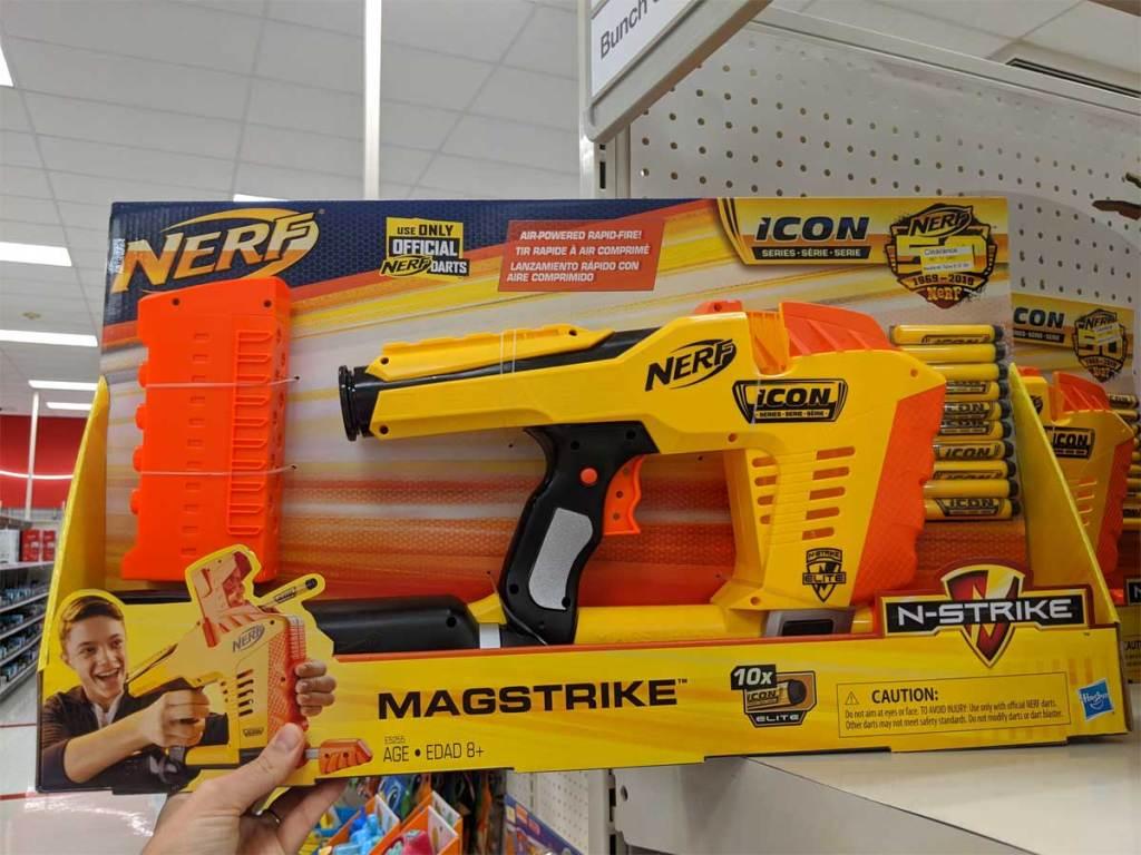 nerf gun in the store