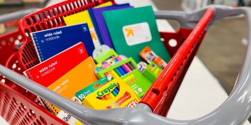 Target's Best School Supply Deals of the Week | 25¢ Notebooks, Crayons, Glue, & More! (+ Teachers Save Extra 15% Off)