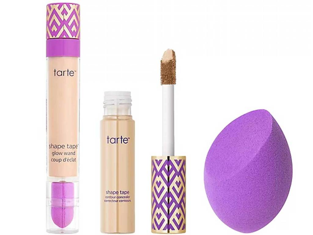 concealer glow wand and sponge