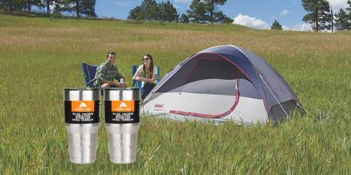 Coleman 4-Person Tent w/ 2 Ozark Trail Tumblers Just $43.50 Shipped on Walmart.com