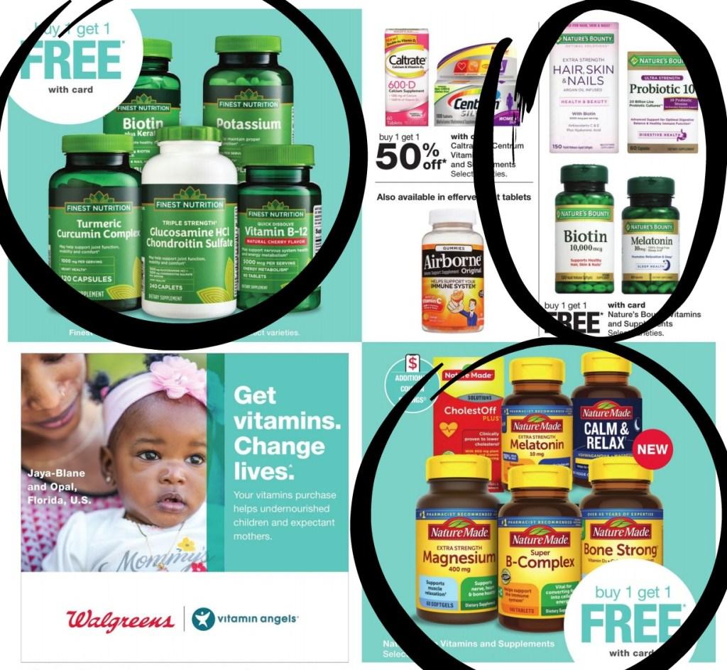 walgreens ad scan vitamins circled