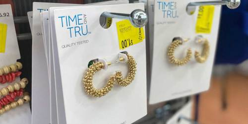 Time & Tru Earrings Only $1 at Walmart (Regularly $5+)