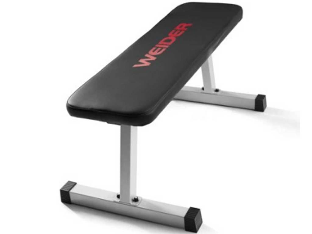 weider weight bench stock image