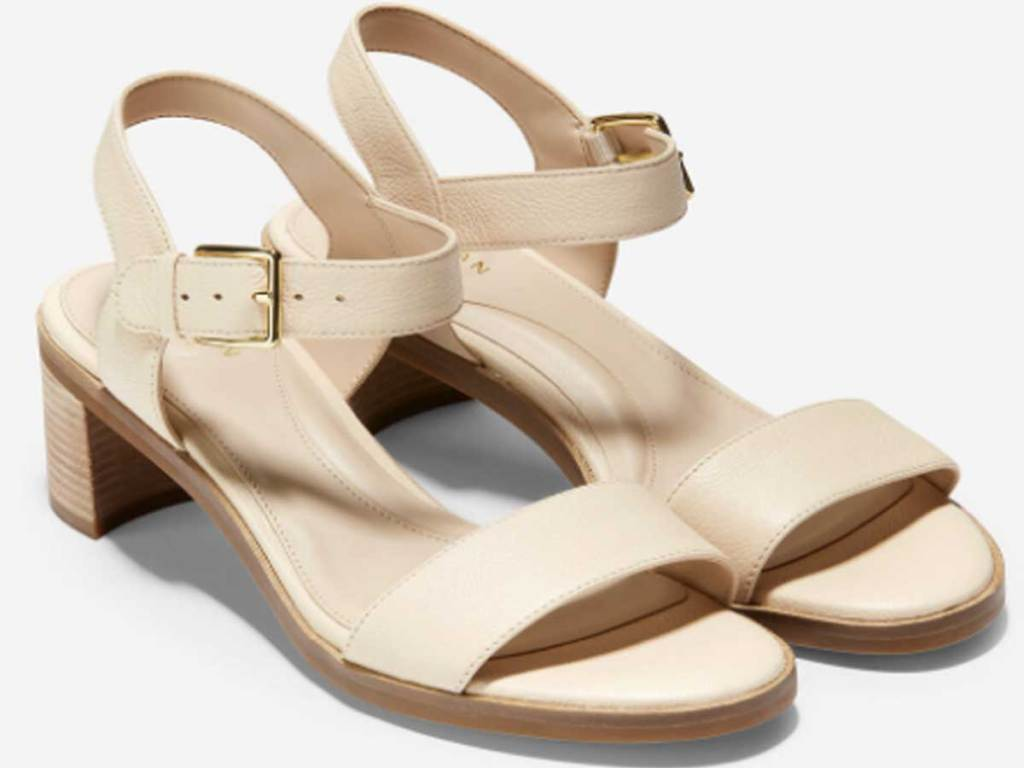 women's light colored strappy sandal