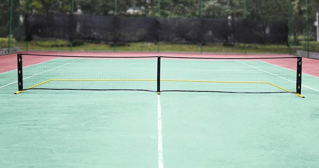 pickle ball net on court
