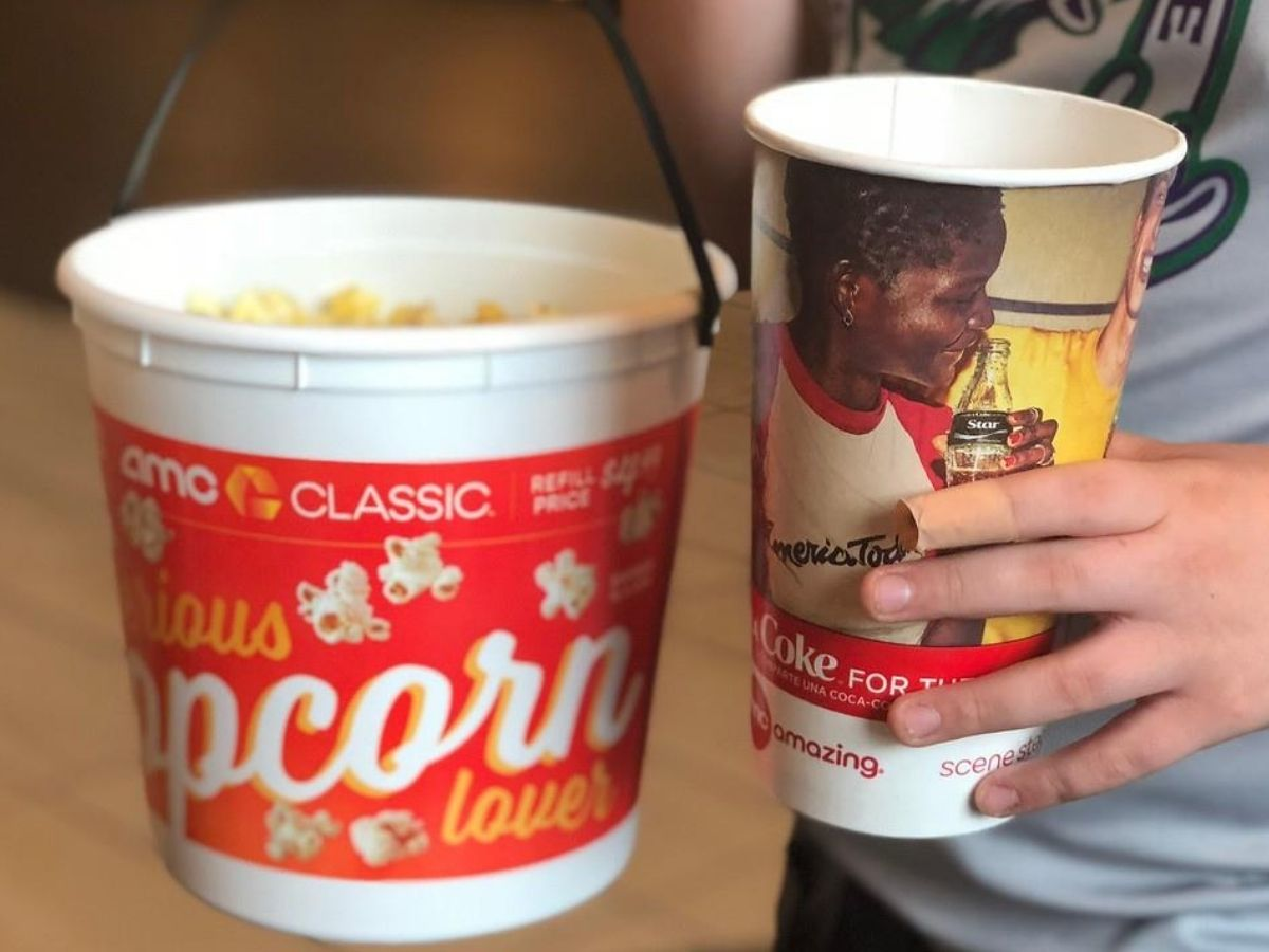 AMC Popcorn and Cup of Soda