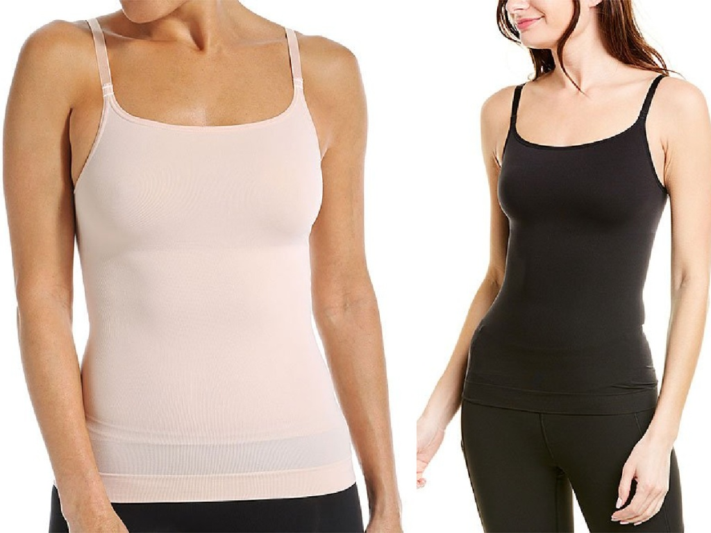 woman wearing pink or black ASSETS by SPANX Shaping Cami