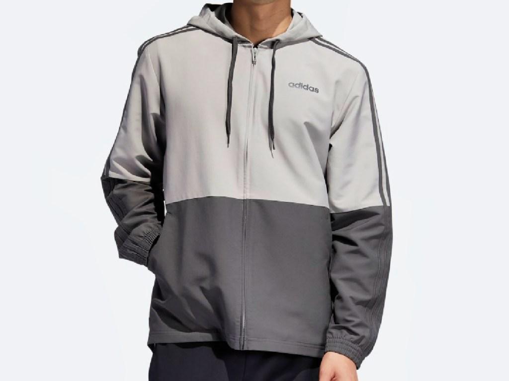 Adidas Essentials Unisex 3-Stripes Windbreaker