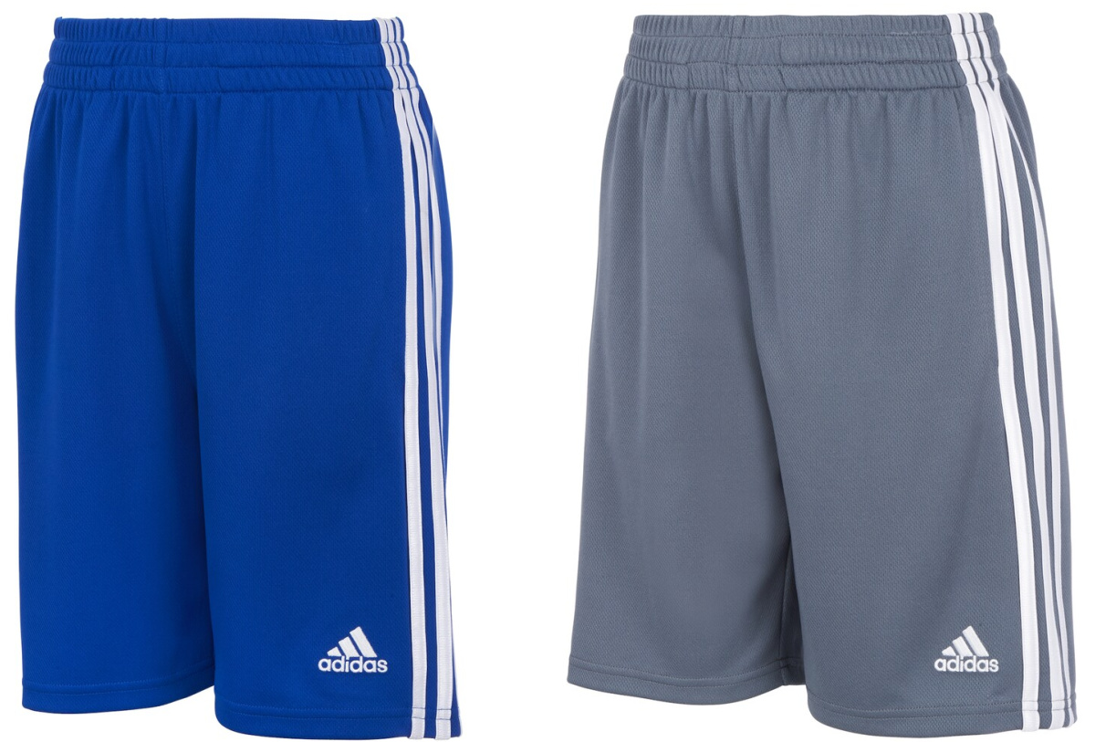 teal or gray adidas shorts