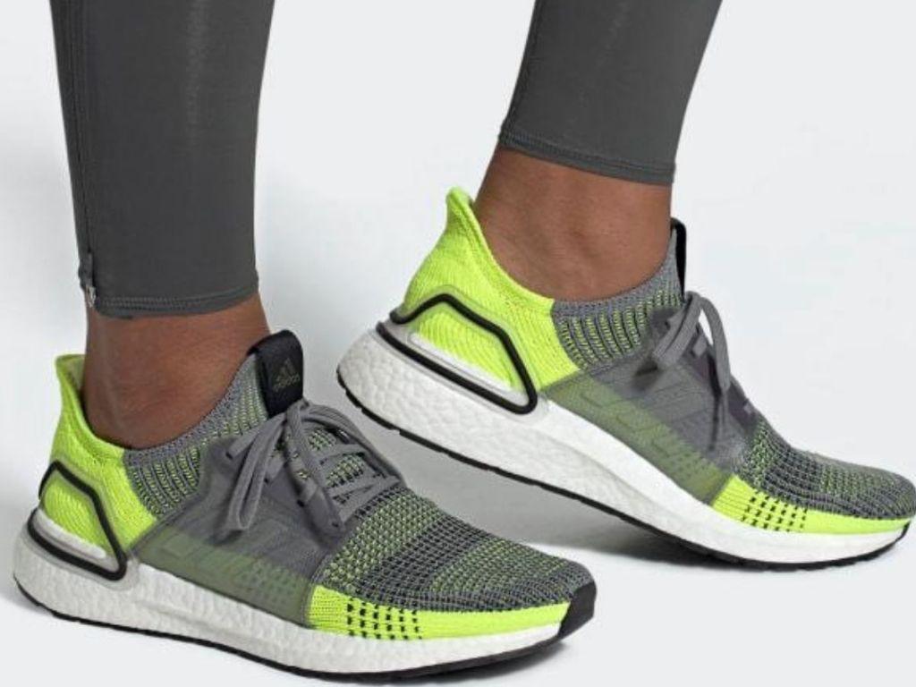 man wearing running sneakers