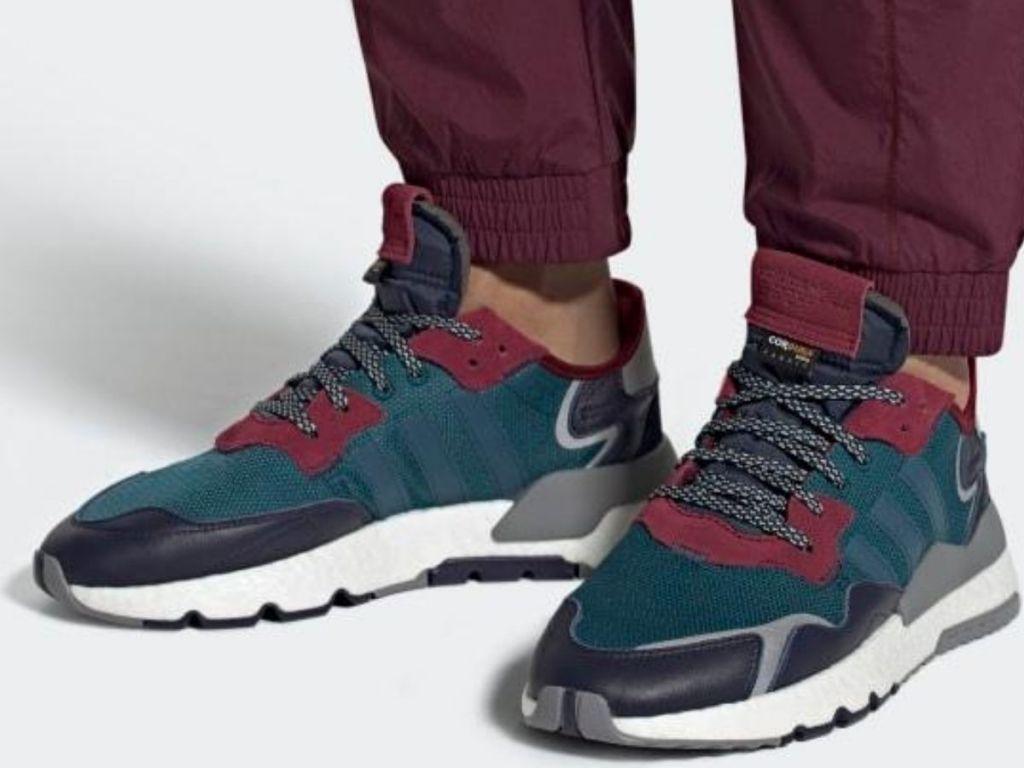 man wearing jogging sneakers