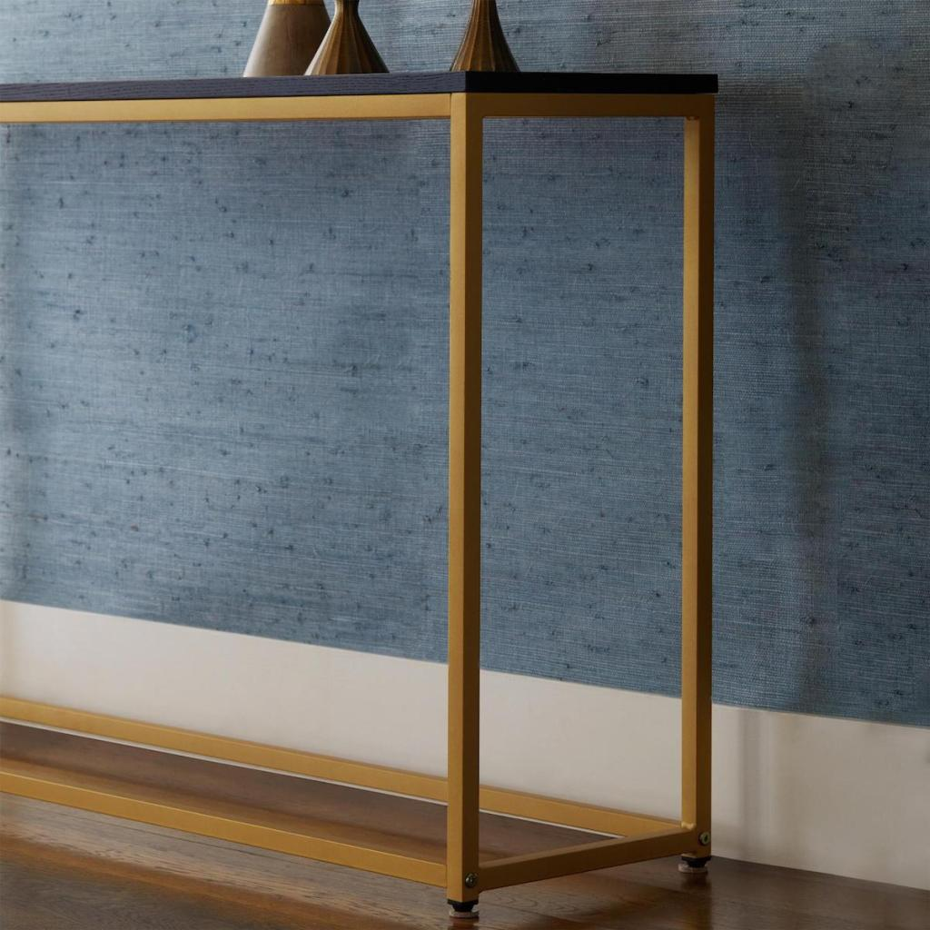 console table next to wall