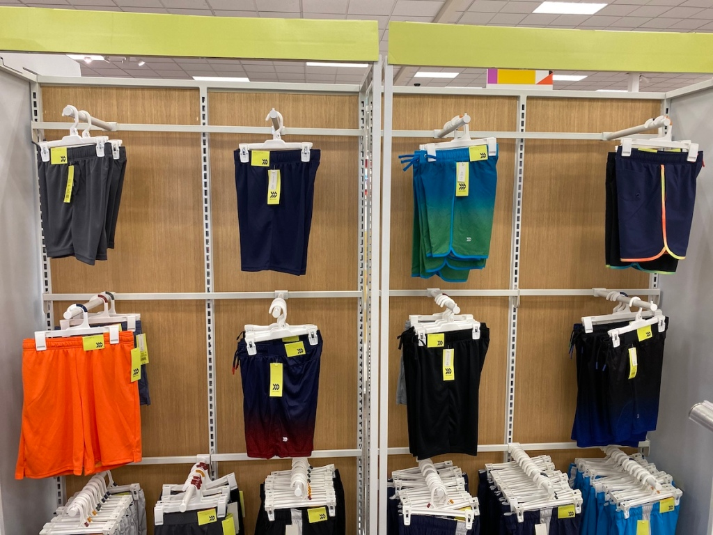 target display of All in Motion Boys Mesh Shorts