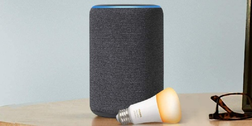Amazon Echo Plus Smart Speaker + Philips Hue Bulb Only $74.99 Shipped ($180 Value)