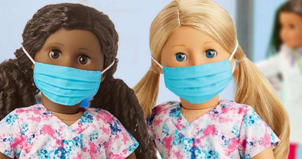 American girls wearing face masks