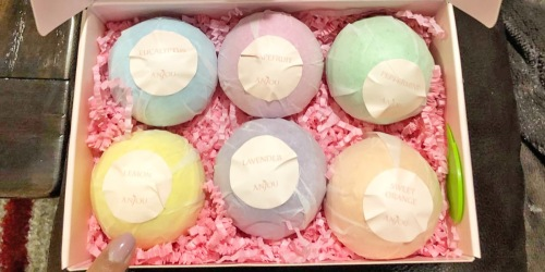 Vegan Bath Bombs 6-Pack Only $7 on Amazon | Hundreds of 5-Star Reviews