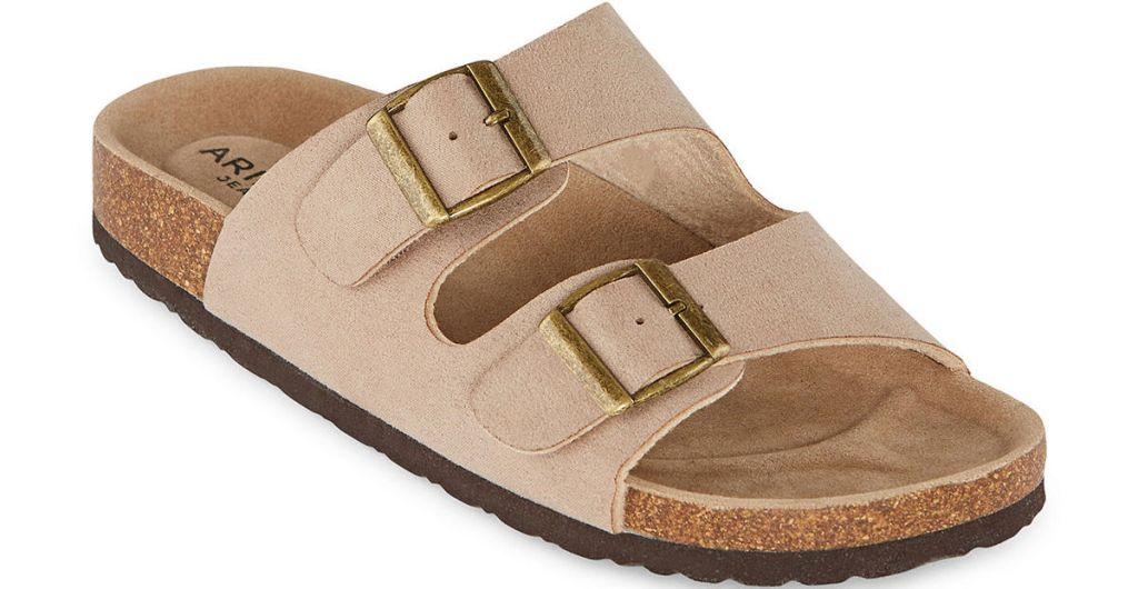 tan and brown sandal
