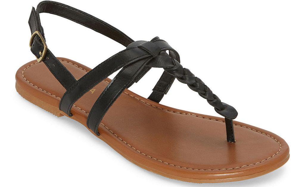 black and brown women's sandal