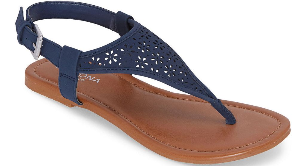 women's blue and brown sandal