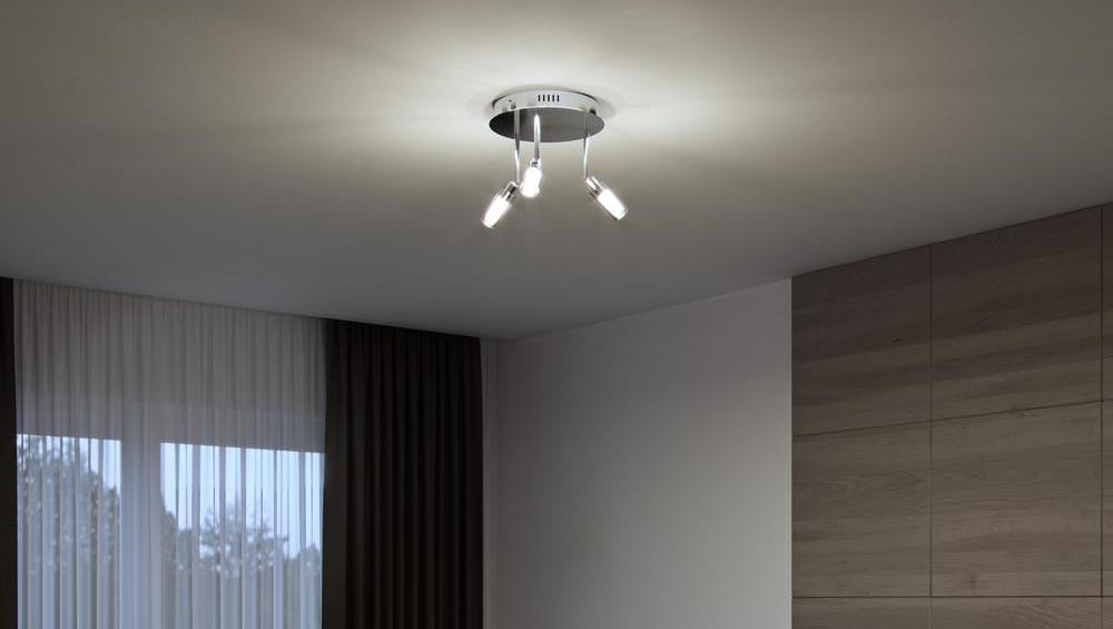 ceiling light in a bedroom