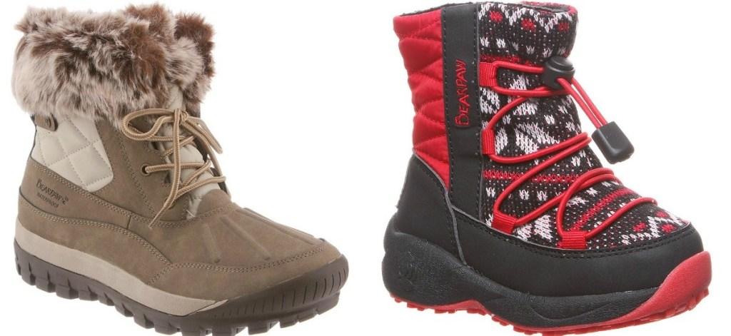 women's and kids winter boot