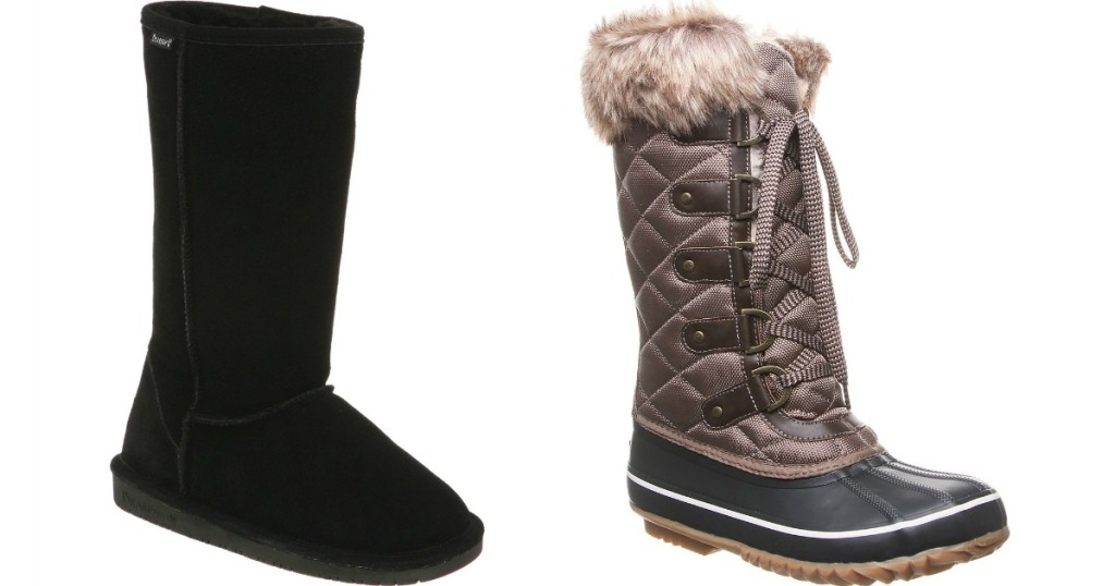 two pairs of women's tall boots