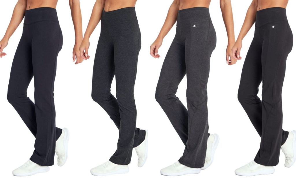 four women in black and grey leggings